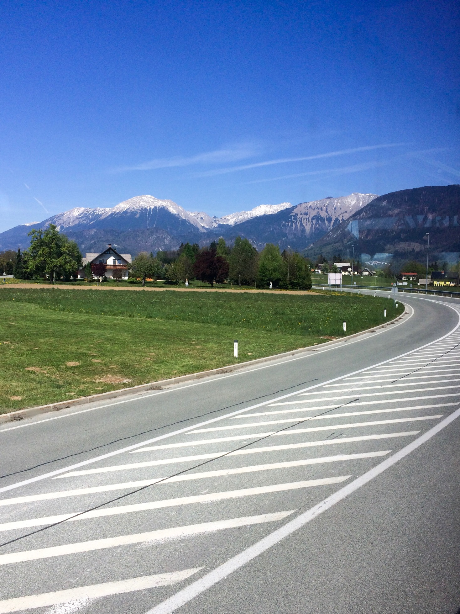 View from the bus from Ljubljana to Lake Bled, Slovenia