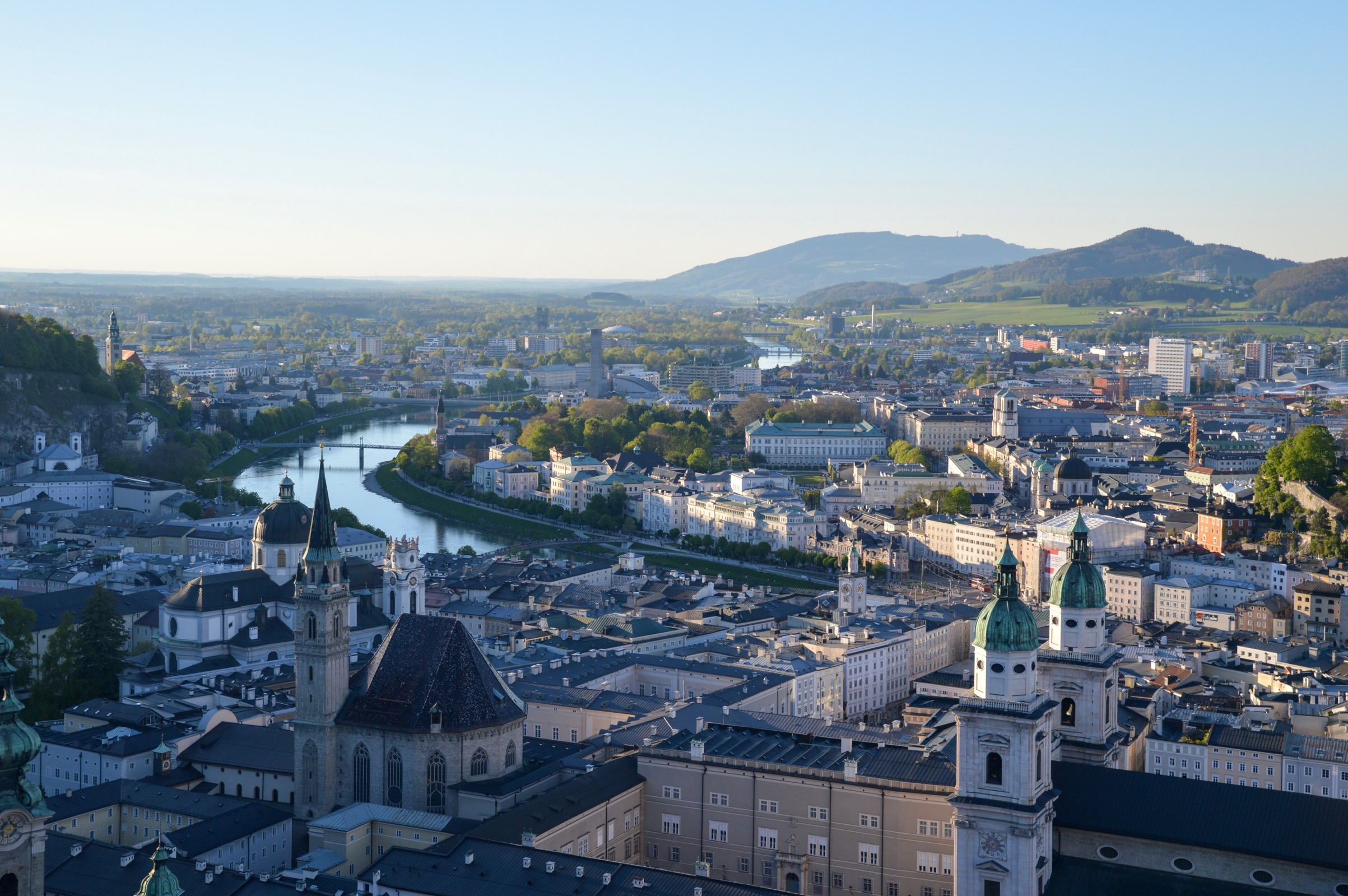 View from Hohensalzburg Castle, Salzburg, Austria