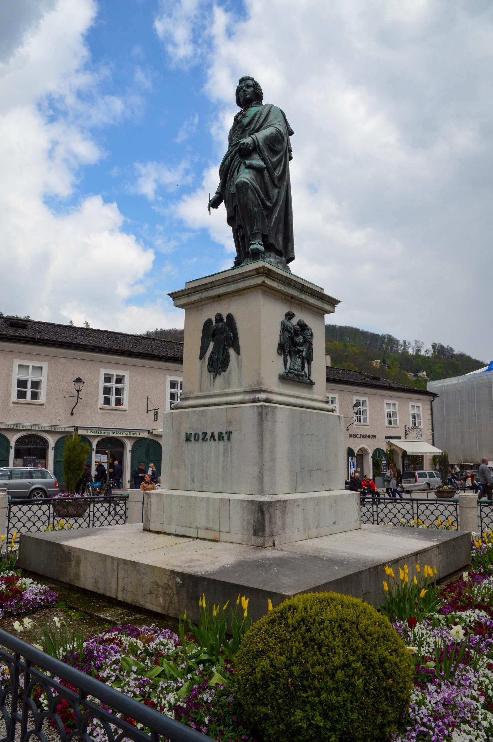 Mozart statue, Salzburg, Austria