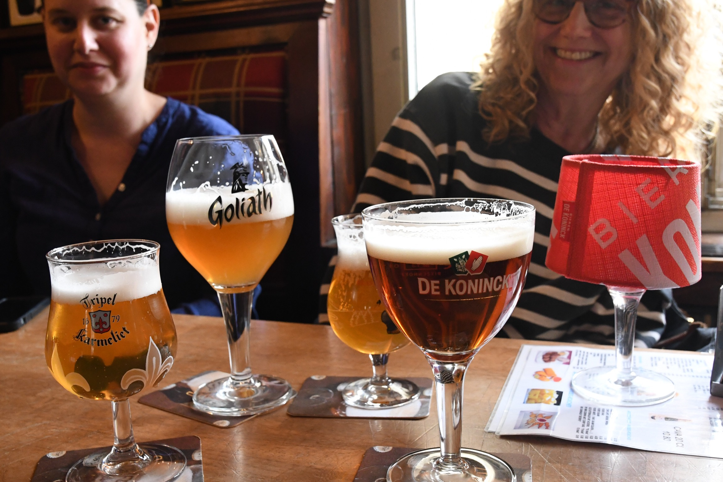 Enjoying Belgian beer, Antwerp, Belgium