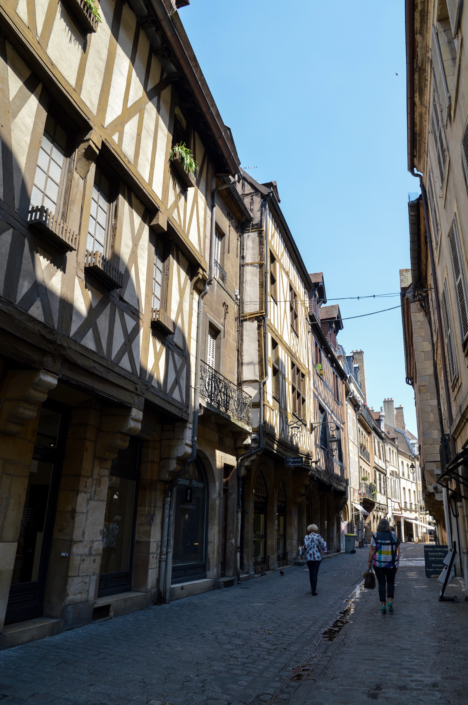 Medieval half-timbered houses, Dijon, France