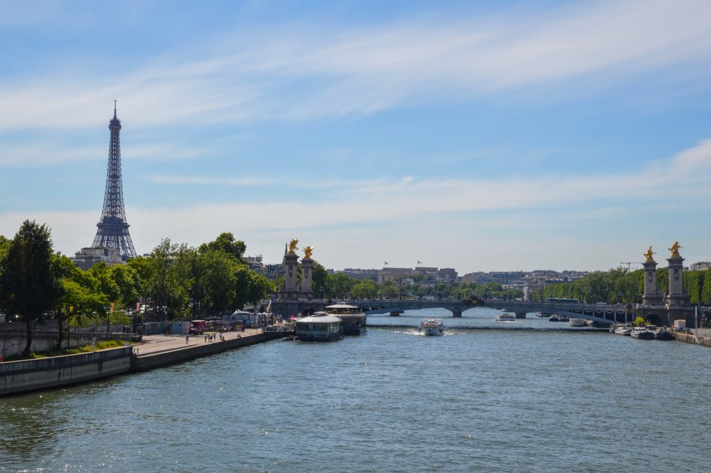 Eiffel Tower, Seine River, Paris, France
