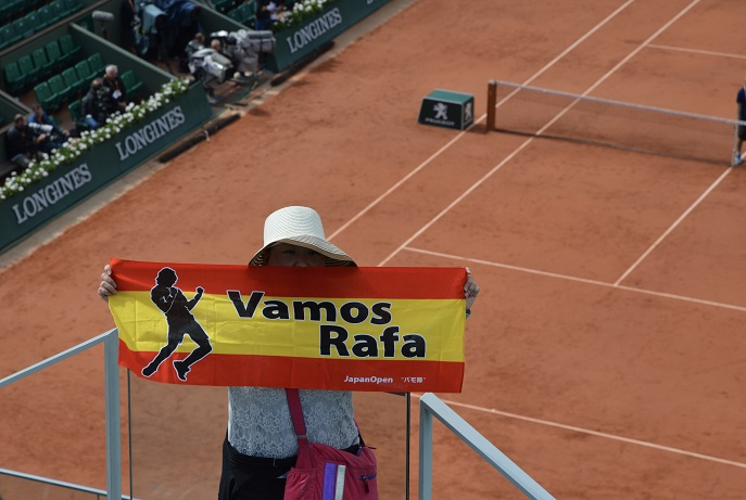 Vamos Rafa, French Open, Roland Garros, Paris, France