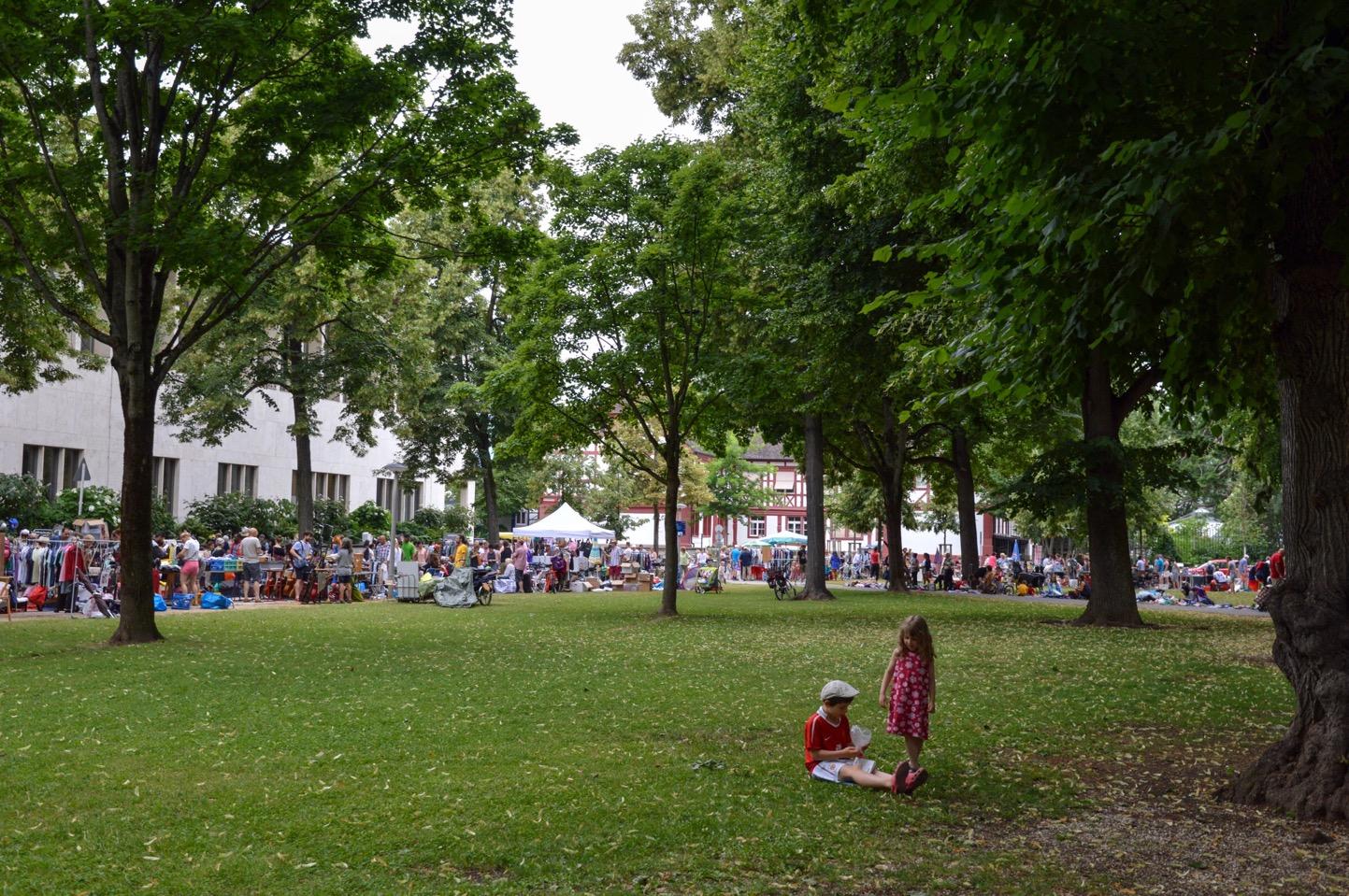 Flea market at Petersplatz, Basel, Switzerland