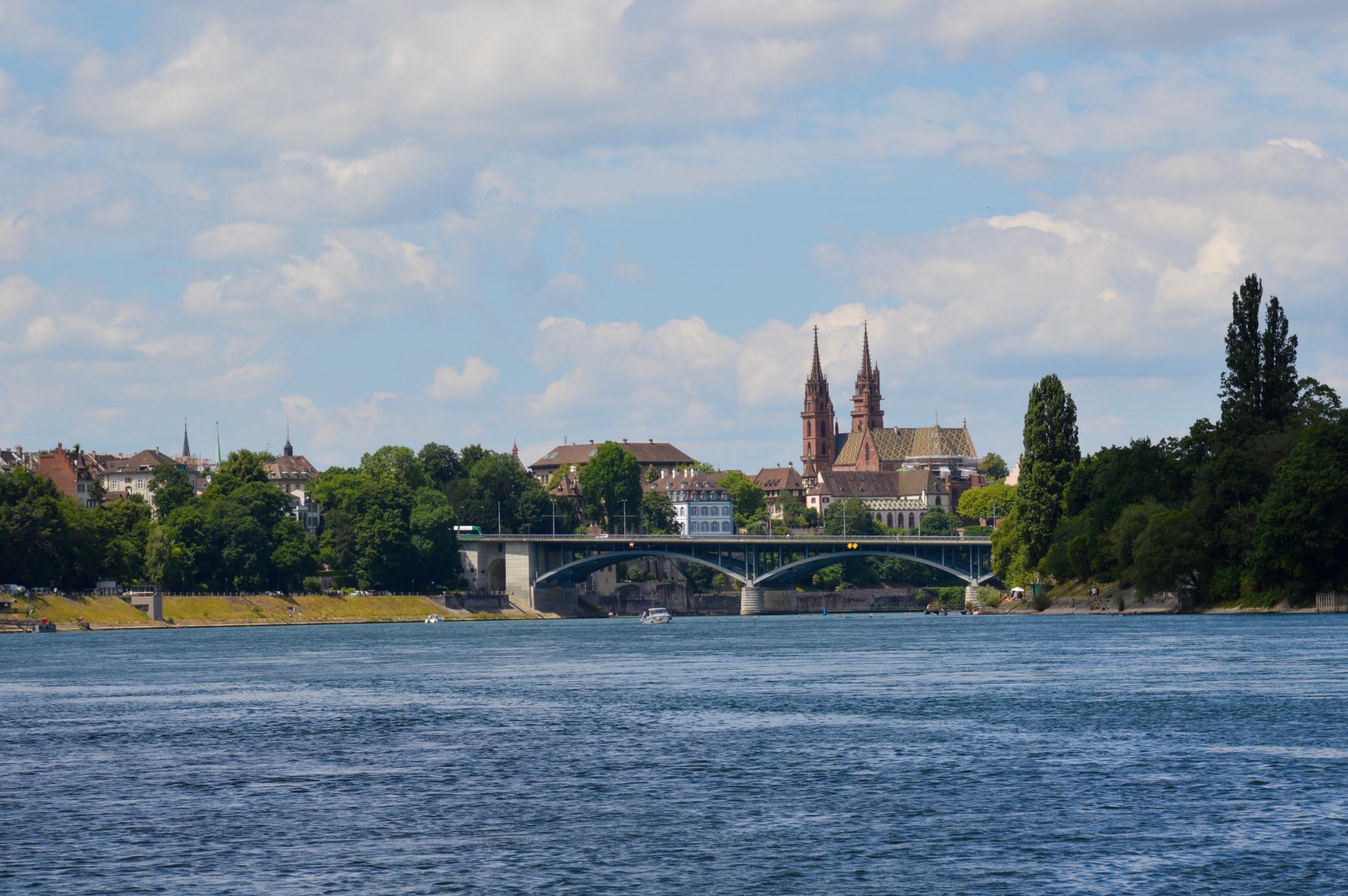 Rhine River, Basler Münster, Basel, Switzerland