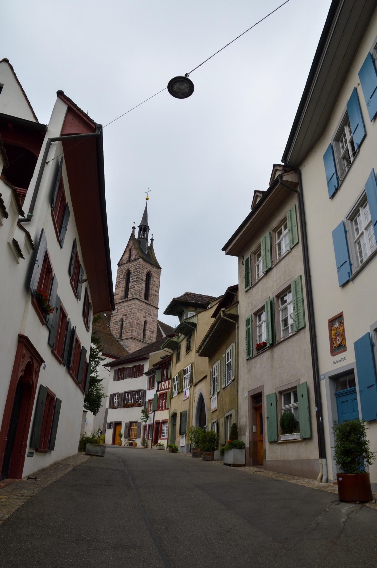 Pretty street, Basel, Switzerland