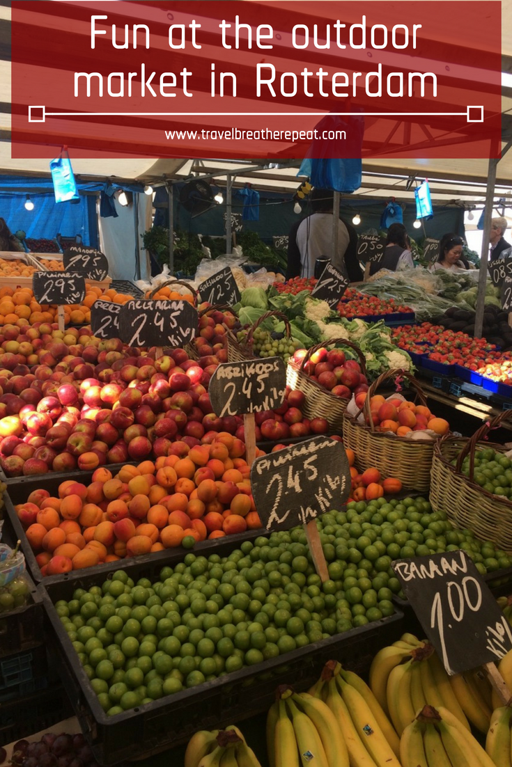 Reasons to visit the outdoor market in Rotterdam, the Netherlands - one of the largest street markets in Europe; #rotterdam #netherlands #foodmarket #travel