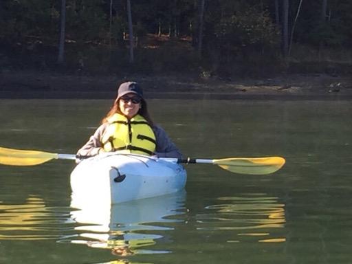 Nisha kayaking