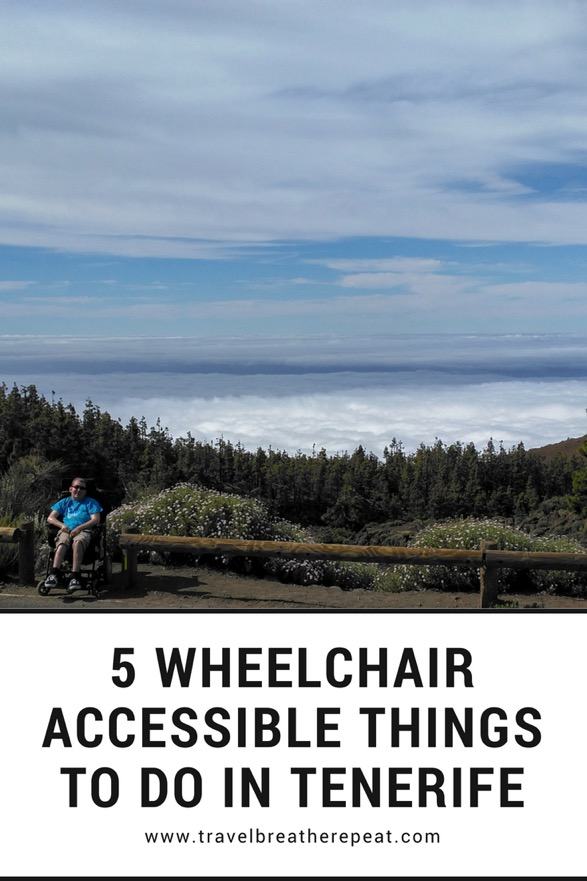 Wheelchair accessible things to do in Tenerife, Canary Islands, Spain; #accessibletravel #wheelchairtravel #tenerife #canaryislands #travel