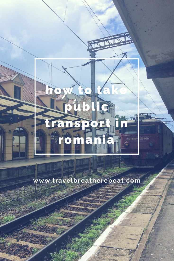 How to take public transport in Transylvania in Romania #transylvania #romania #travel #traveltips #traintravel