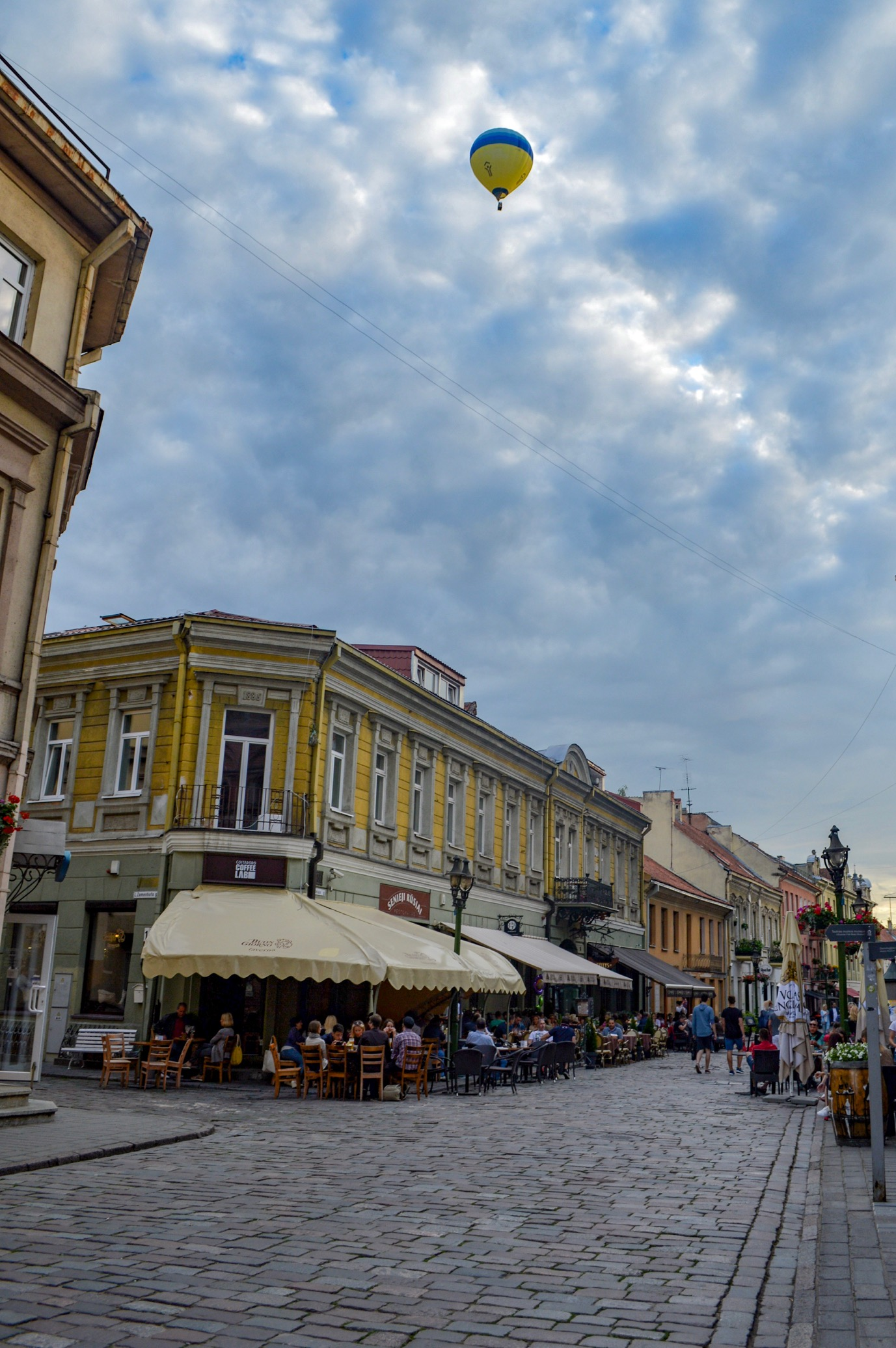 Hot air balloon, Kaunas Old Town, Lithuania