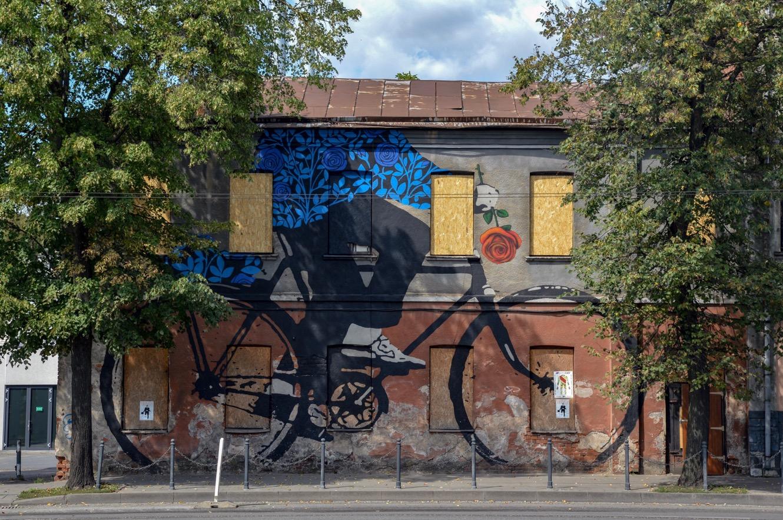 Street art, Kaunas, Lithuania