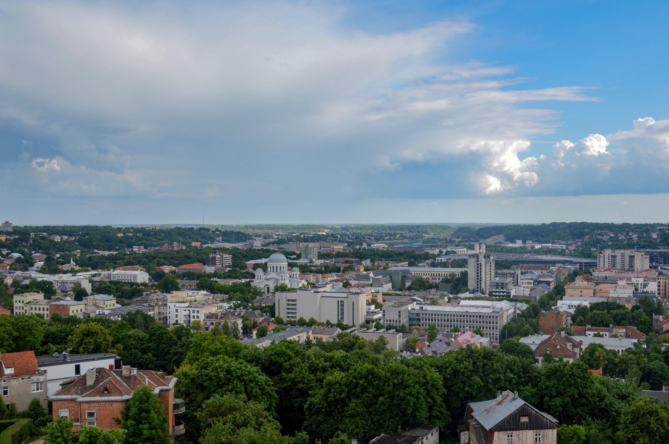 View of Kaunas, LIthuania
