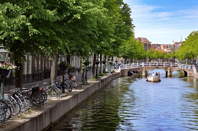 Canal, Leiden, The Netherlands