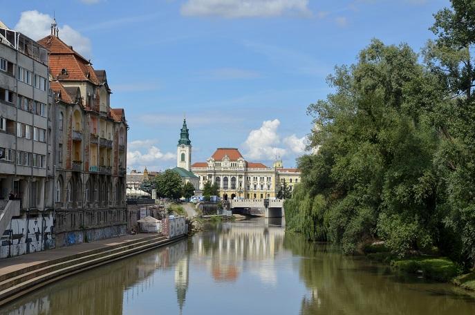 Crișul Repede river, Oradea, Romania