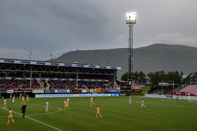Tromso IL football match, Tromso, Norway
