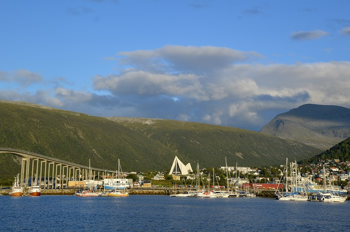 Arctic Cathedral and Bridge, Tromso, Norway