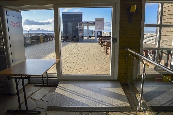 Viewing platform entrance at Storsteinen, Mt. Fløya, Tromso, Norway