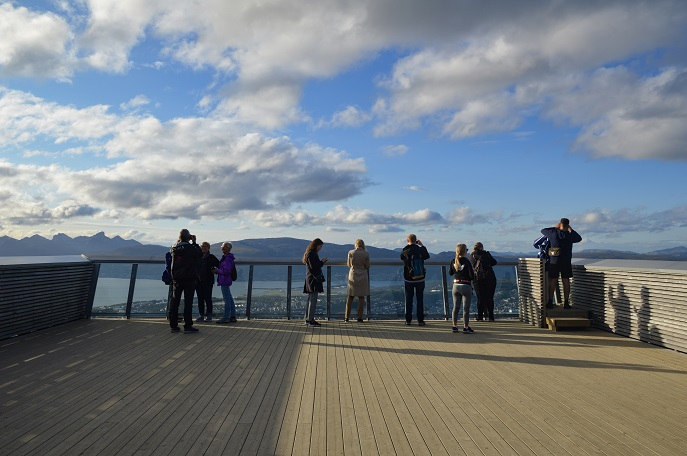 Viewing platform, Mt. Fløya, Tromso, Norway