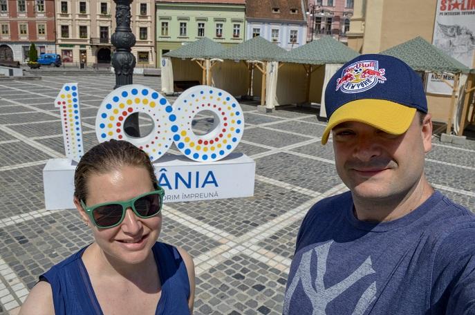 Romania 100 Sign, Brasov, Romania