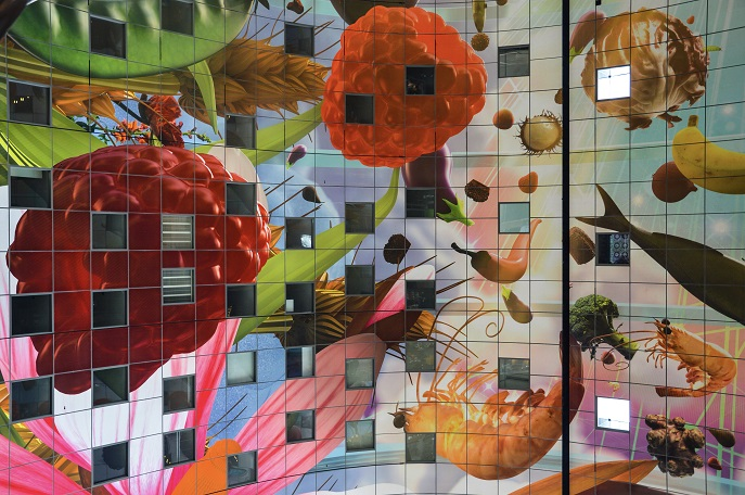 Rotterdam Markthal Mural - free things to do in Rotterdam