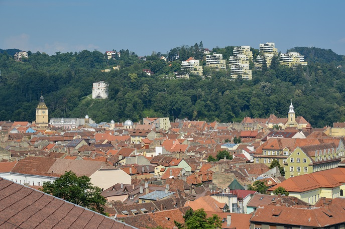 Brasov view, Belfort Hotel, Romania