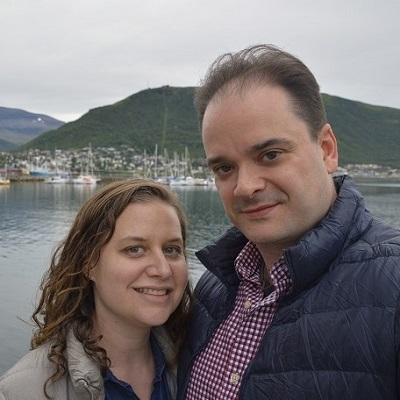 Sarah and Justin in Tromso, Norway