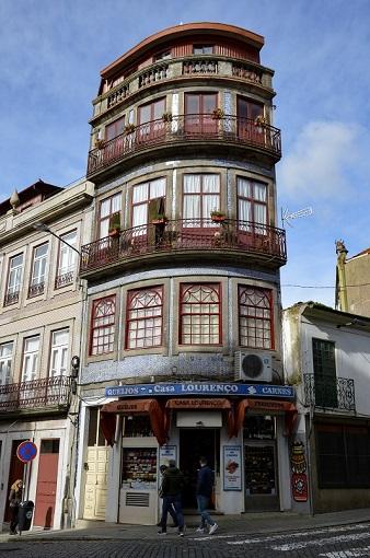 Tall narrow colorful building in Porto, Portugal