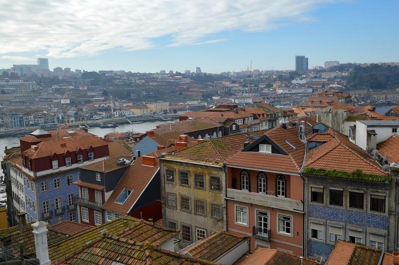 View of the Douro River and Porto from Igreja Sao Lourenco